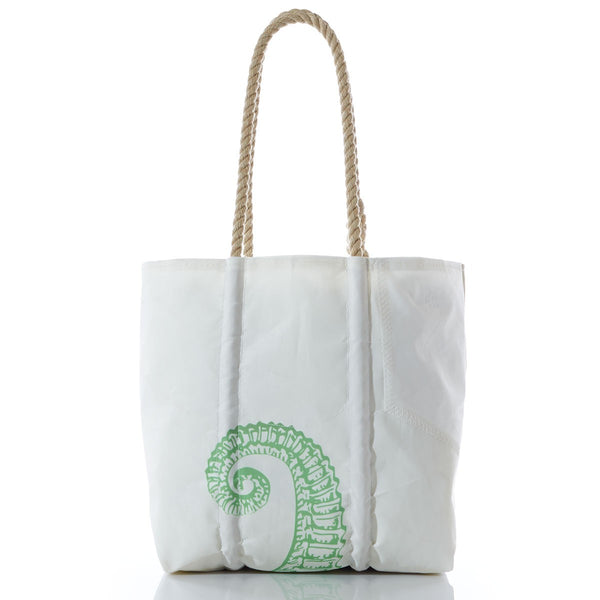 Seabags Medium Tote Lime Green Seahorse with Hemp Handle - Ship Chic
