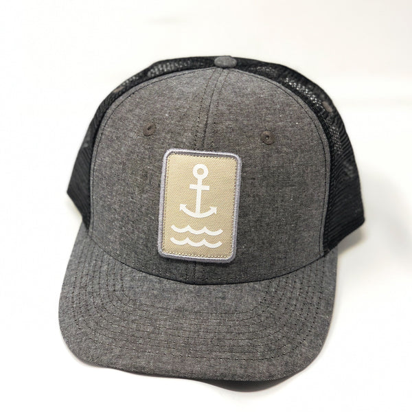 Ship Chic Ship Chic Hat Charchoal Chambray/Khaki logo - Ship Chic