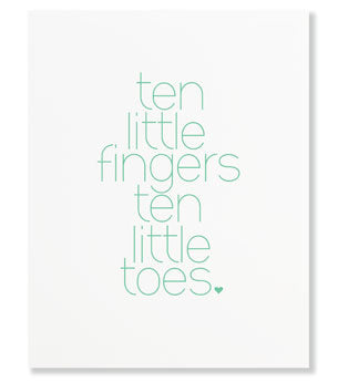 Betsywhite, LLC Ten Fingers Art Print 11x14 Jadite - Ship Chic