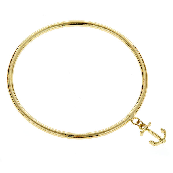 Fornash Carousel Charm Bangle - Anchor - Ship Chic