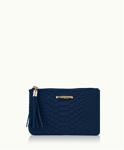 Zip Pouch in Navy