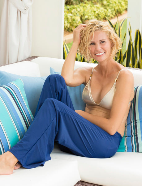 Cabana Life Solid Beach Pants in Navy - Ship Chic