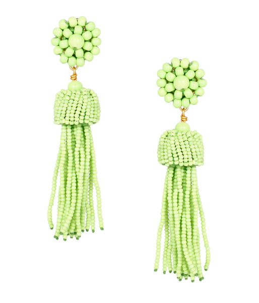 Tassel Earrings - Kiwi