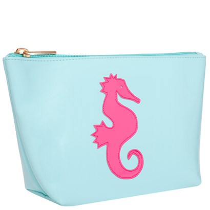 Lolo Light Blue Medium Avery with Pink Seahorse - Ship Chic