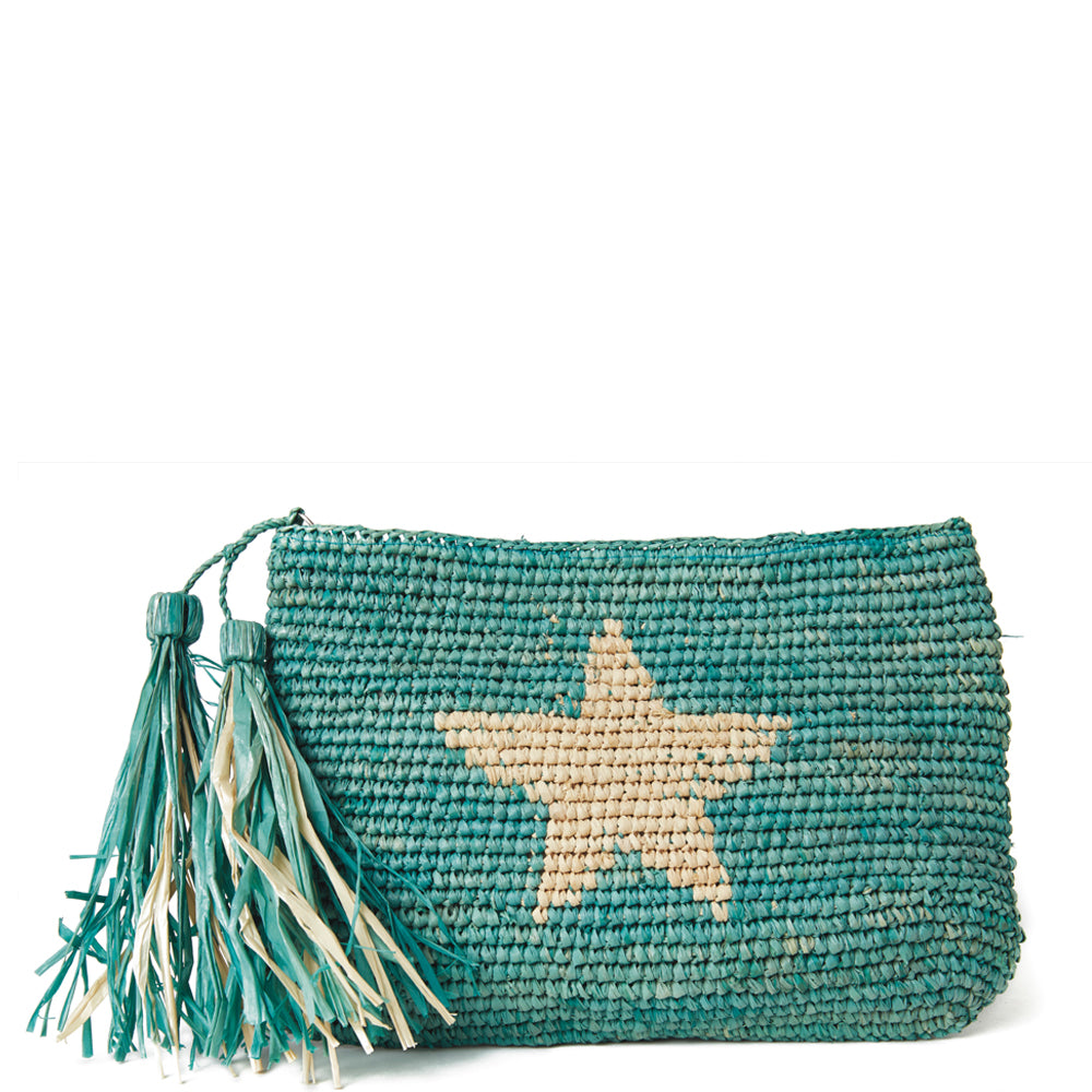 Mar Y Sol Estella Star Clutch in Aqua - Ship Chic