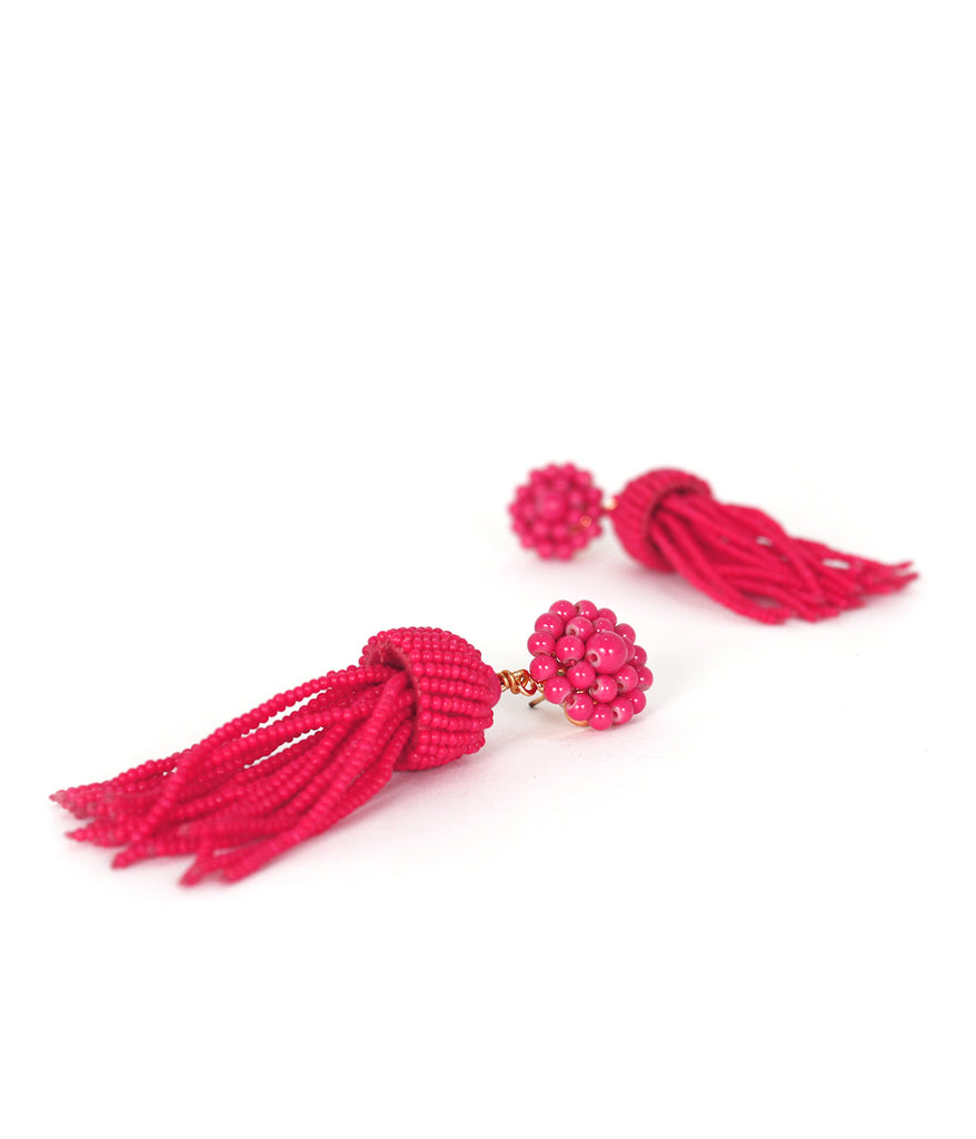 Lisi Lerch Tassel Earrings - Miss Pink - Ship Chic
