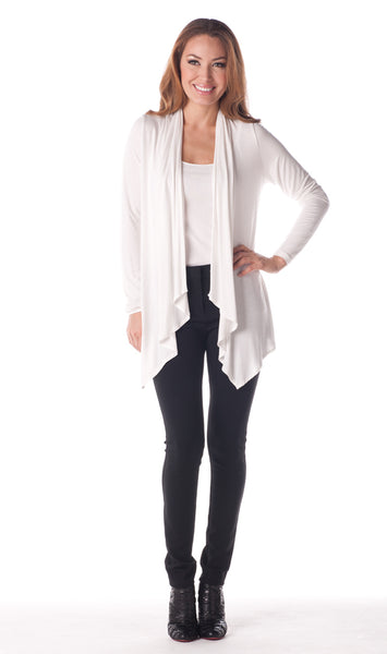 Tori Richard Beachside Cardigan - White - Ship Chic