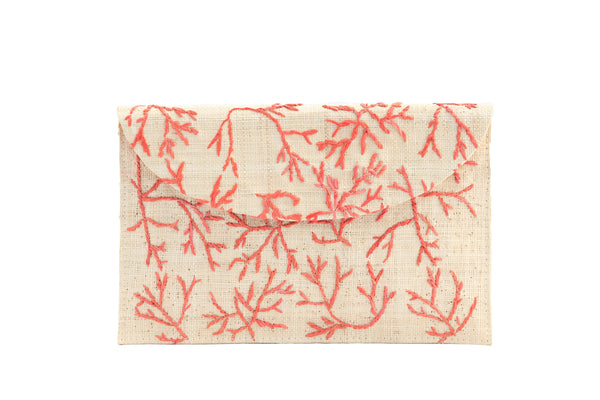 Paraiso Envelope in Coral