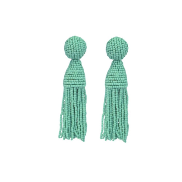 St. Armands Designs Captiva II Beaded Tassels - Turquoise - Ship Chic