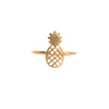 Wanderlust + Co Pineapple Gold Ring - Size 7 - Ship Chic