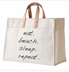 Dewdrop Designs Eat Beach Sleep Tote Natural - Ship Chic