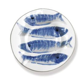 Napa Home and Garden Pesci Plate Blue S/4 - Ship Chic