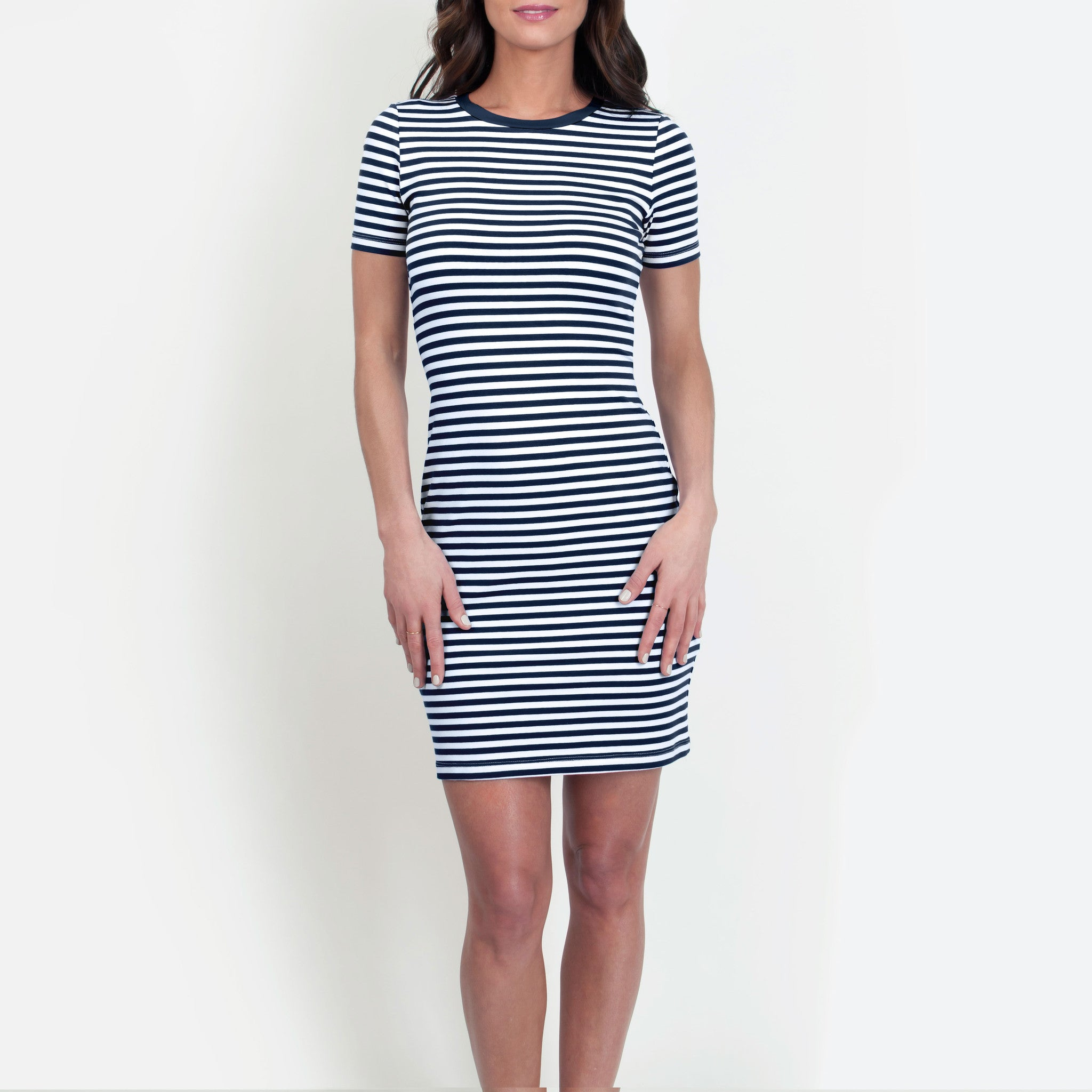 c8249817e2 JaneHudson Betty Navy and White Dress - Ship Chic