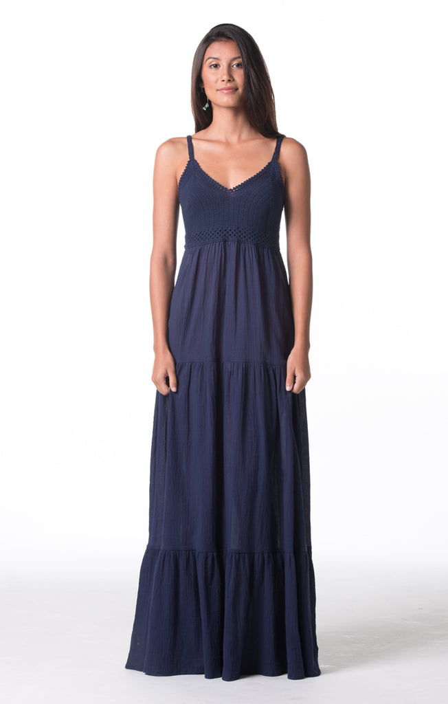 Tori Richard Skylar Dress - Navy - Ship Chic