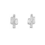 Wanderlust + Co Cactus Silver Earrings - Ship Chic