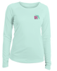 Boaters Republic Ladies Be Coastal Be Local - L/S Performance Seafoam - Ship Chic