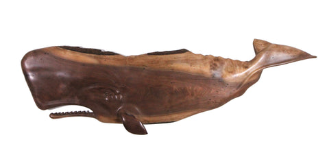 ANTIQUE BLACK WALNUT SPERM WHALE