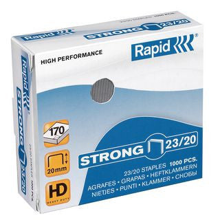 Rapid 23/20 (1000) Strong Staples - 50% discount - SAME DAY despatch