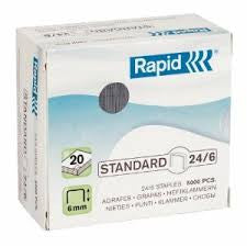 Rapid 24/6 (5000) Standard Staples - 50% Discount (£2.46 per box + VAT) SAME DAY despatch