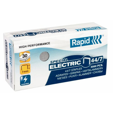TRADE PACK - 5 Boxes Rapid 44/7 (5x5000) Special Electric Staples - 50% Discount (£3.40 per box) SAME DAY despatch