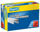 TRADE PACK - 2 Boxes Rapid 73/8 (2 x 5000) Extra High Performance Staples - 50% Discount (£7.70 per box + VAT) SAME DAY DESPATCH