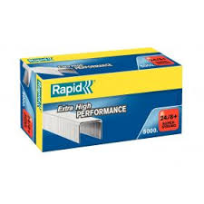 Rapid 24/8+(5000) Extra High Performance Super Strong Staples 50% Disc (£4.52 per box + VAT) SAME DAY DESPATCH