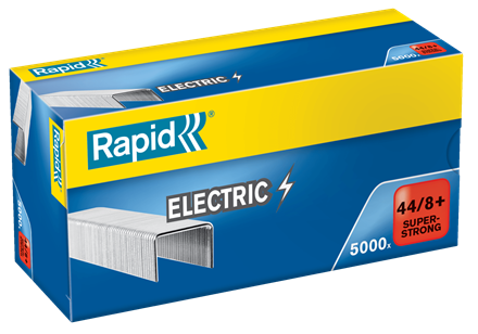 TRADE PACK - 5 Boxes Rapid 44/8+ (5x5000) Special Electric Super Strong Staples - 50% Discount (£3.67 per box + VAT) SAME DAY despatch