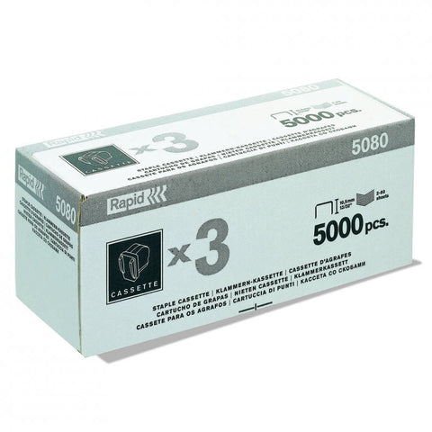Rapid 5080E Special Electric Staple Cassettes (3x5000) Triple - 50% Discount - SAME DAY Despatch