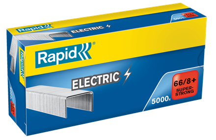 TRADE PACK - 5 Boxes Rapid 66/8+ (5x5000) Special Electric Strong Staples - 50% Discount (£4.59 per box + VAT) SAME DAY DESPATCH
