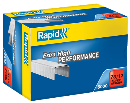 TRADE PACK- 2 Boxes Rapid 73/12 (2x5000) Extra High Performance Staples  - 50% Discount  (£8.55 per box + VAT) SAME DAY DESPATCH
