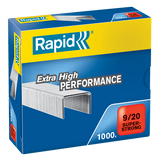 Rapid 9/20 (1000) Extra High Performance Super Strong Staples - 50% Discount - SAME DAY despatch