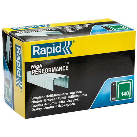 TRADE PACK - 2 Boxes Rapid 140/12 (2x5000) High Performance Staples (£9.10 per box + VAT) 50% Discount SAME DAY DESPATCH