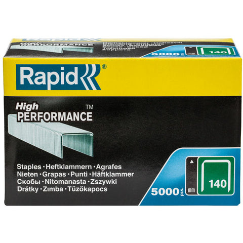 TRADE PACK - 2 Boxes Rapid 140/6 (2x5000) High Performance Staples - 50% Discount (£6.53 per box + VAT) SAME DAY despatch