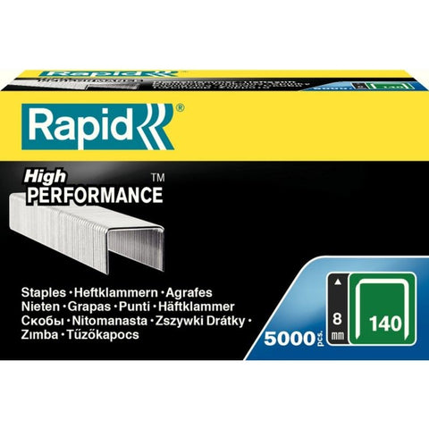 TRADE PACK - 2 Boxes Rapid 140/8 (2x5000) High Performance Staples - 50% Discount (£7.08 per box + VAT) SAME DAY despatch