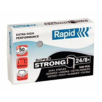 Rapid 24/8+(5000) Super Strong Staples 50% Discount (£4.44 per box + VAT) SAME DAY despatch