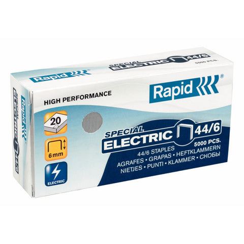 TRADE PACK - 5 Boxes Rapid 44/6 (5x5000) Special Electric Staples - 50% Discount (£3.38 per box + VAT) SAME DAY despatch