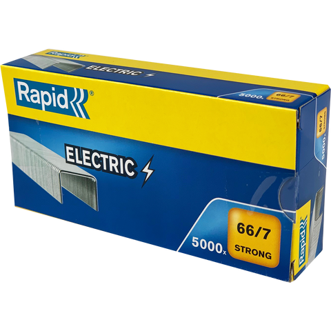 TRADE PACK - 5 Boxes Rapid 66/7 (5x5000) Special Electric Strong Staples - 50% Discount (£3.75 per box + VAT) SAME DAY DESPATCH