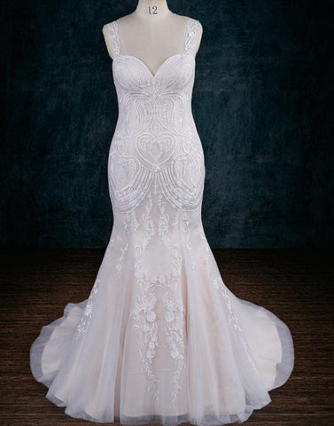 Lace Sheath Mermaid Wedding Dress