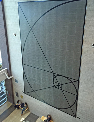 Fibonacci Large Etched Porcelain Wall Mural - Jenks, OK