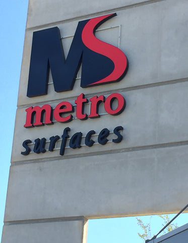 Metro Surfaces Exterior Sign Lettering