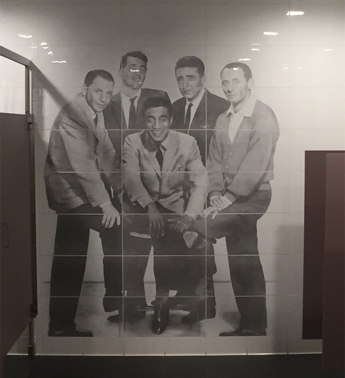 The Rat Pack Etched Porcelain Wall - Las Vegas