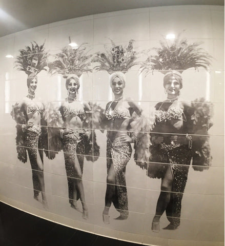 Showgirls Etched Porcelain Mural Wall - Las Vegas Convention Center