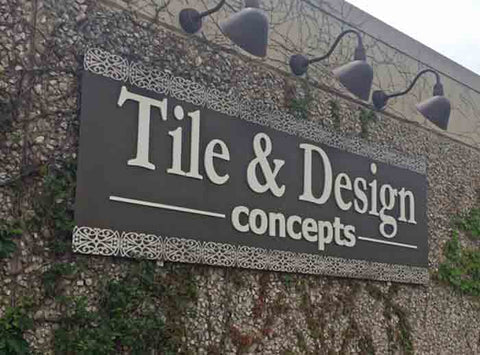 Tile and Design Etched Metal Sign and Cut Acrylic Letters - Oklahoma City, OK