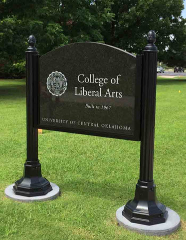UCO College of Liberal Arts Etched Granite Sign - University of Central Oklahoma
