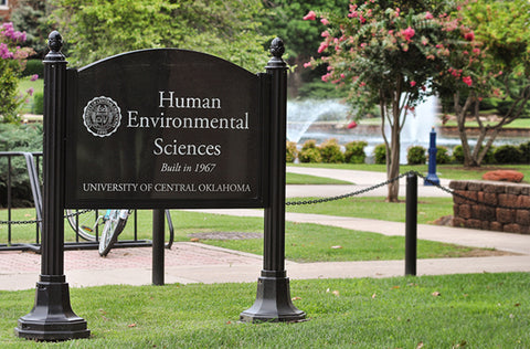 UCO Human Environmental Sciences Etched Granite Sign