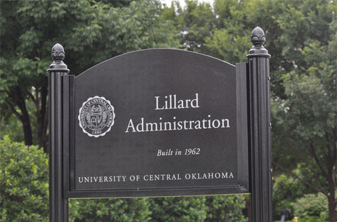 UCO Lillard Administration Etched Granite Sign