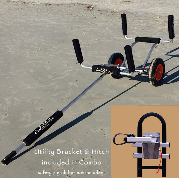 SUP paddle board trailer that can be pulled by golf cart