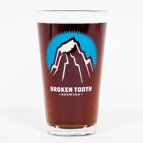 Broken Tooth Brewing Logo Pint Glass