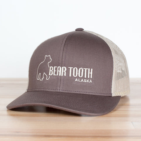 Brown Bear Tooth Trucker Cap