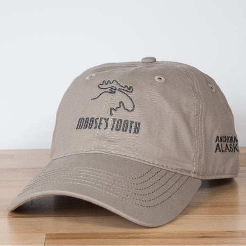 Moose's Tooth Classic Ball Cap in Khaki